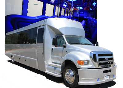 Black 40 Passenger Party Limo Bus